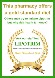 pharmacy posters - gold standard Lipotrim Ireland Poster  - medical benefit