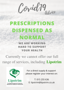 Lipotrim ROI pharmacy poster - Direct Lipotrim supply